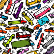 Toy cars collection, seamless pattern for your design — Stock Vector #30283169
