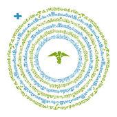 Rahmen mit medizinische symbole für ihr design — Stockvektor