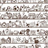 škola ručně tažené vzor pro svůj design — Stock vektor
