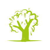Green tree icon for your design — Stock Vector