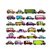 Aantal auto's collectie voor uw ontwerp — Stockvector