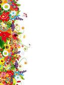 あなたの設計のためのシームレスな花柄 — ストックベクタ