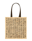 Paper shopping bag with egypt hieroglyphs for your design — Stock Vector