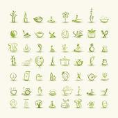 Massage en spa, set van pictogrammen voor uw ontwerp — Stockvector