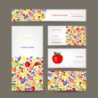 Business cards design, fruit background — Stock Vector