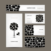 Business cards design, photo frames — Wektor stockowy