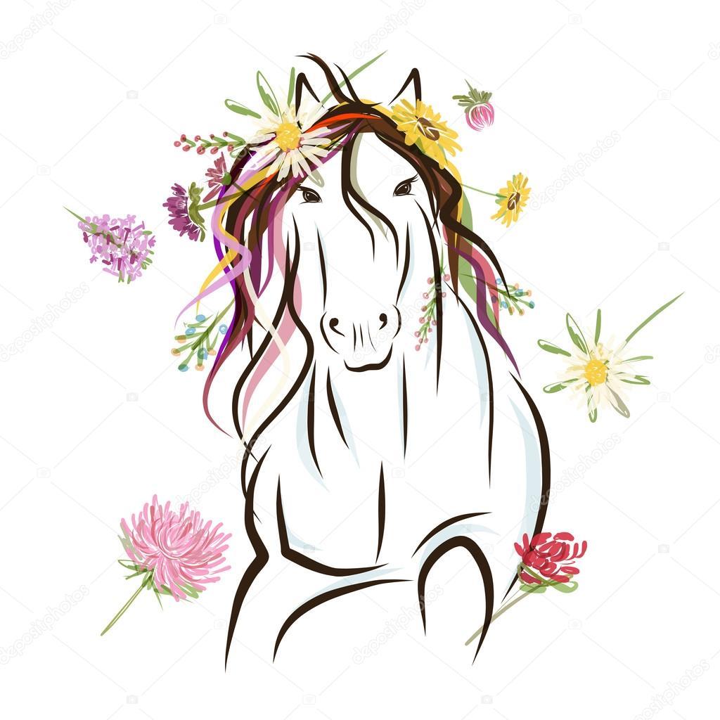 schizzo con decorazione floreale per il vostro disegno. simbolo