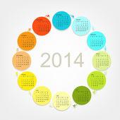 Calendar grid 2014 for your design — Stock Vector