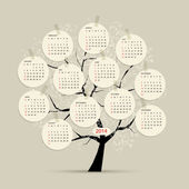 Calendar tree 2014 for your design — Stock Vector
