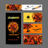 Invitation cards for halloween party for your design — Stock Vector