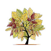 Autumn tree for your design — Stock Vector