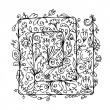 Floral ornament, hand drawn sketch for your design — Vettoriali Stock