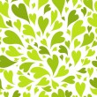 Seamless pattern with green hearts for your design — Stock Vector #33211033