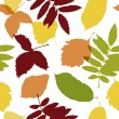 Autumn leaves seamless pattern for your design — Stock Vector