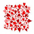 Red hearts background for your design — Stockvectorbeeld
