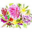 Floral summer bouquet for your design — Imagen vectorial