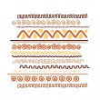 Design element with ethnic handmade ornament — Image vectorielle