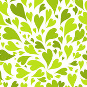 Seamless pattern with green hearts for your design — Stock Vector