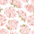 Floral seamless pattern, sketch for your design — Stock Vector