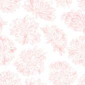 Naadloze bloemmotief, schets voor uw ontwerp — Stockvector