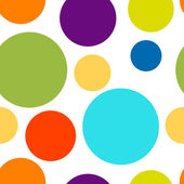 Funny colorful dots seamless pattern for your design — Stock Vector
