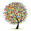 Art tree beautiful for your design — Stock Vector #3606468