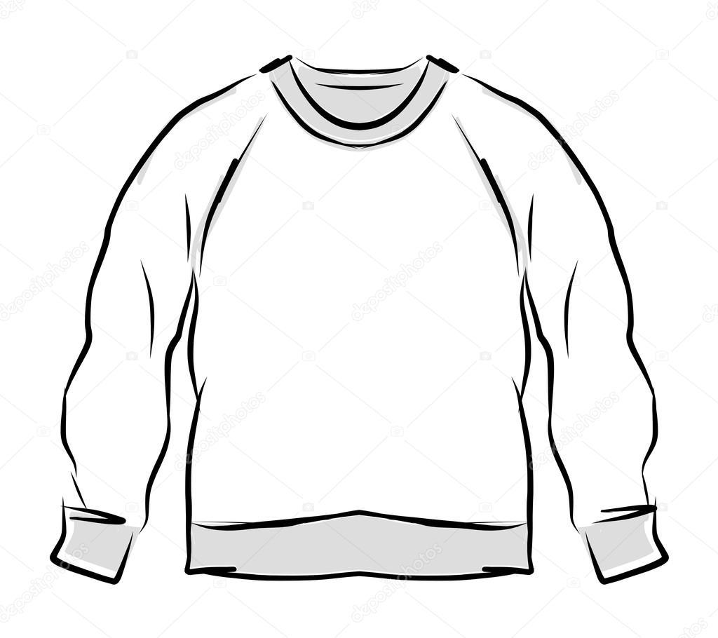 illustration hooded sweater template vector illustration