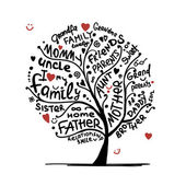 Family tree sketch for your design — Stock Vector