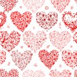 Seamless pattern with valentine hearts for your design — Stock Vector
