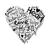Valentine srdce skica pro návrh — Stock vektor