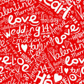 Valentine seamless pattern for your design — Stock Vector