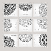 Set of ornate cards for your design — Vector de stock