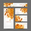 Set of creative business cards design, abstract autumn style — Stock Vector #39124705
