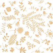 Vintage floral seamless pattern for your design — Vector de stock