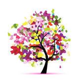 Abstraktní mozaika strom pro návrh — Stock vektor