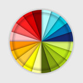 Palette of color wheel, for your design — Stock Vector