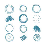 Set of scribbles for your design — Stock Vector