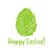 Happy Easter! Sketch greeting card for your design — Stock Vector