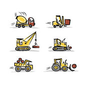 Set of construction equipment for your design — Vector de stock