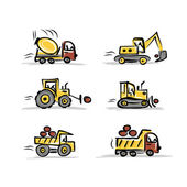 Set of construction equipment for your design — Stockvektor
