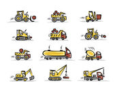 Set of construction equipment for your design — 图库矢量图片