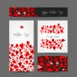 Set of valentine cards for your design — Vecteur #49560951