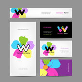 Set of abstract creative business cards design — 图库矢量图片