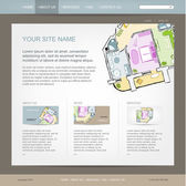 Website design template for building company — Stock Vector