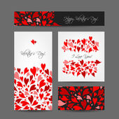 Set of valentine cards for your design — 图库矢量图片