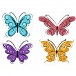 Set of ornamental butterflies for your design — Stock Vector #50033459