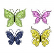 Set of ornamental butterflies for your design — Stock Vector #50033465