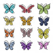 Set of ornamental butterflies for your design — Stock Vector #50033475