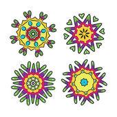 Ensemble d'ornements floraux pour votre conception — Vecteur