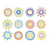 花卉饰品为您设计一套 — 图库矢量图片